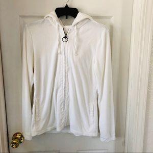 Terry cloth zip up jacket
